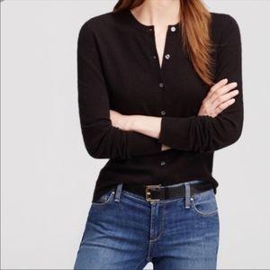 Ann Taylor black 8 button cardigan sweater  Xl